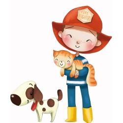 Le pompier et le chien / The fireman and the dog