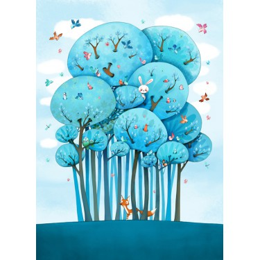 Fresque Dans les arbres