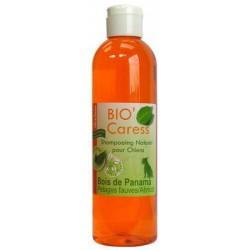 Shampooing Bio'Caress Pelages Fauves et Abricot &-40.Bois de Panama&-41.