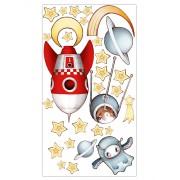 Planche fusée et constellation