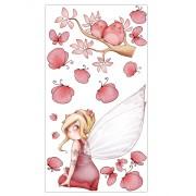 Planche Fée assise et papillons