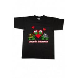 Tee-shirt enfant tortues Aimer la différence