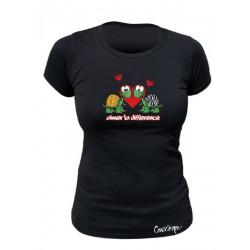 Tee-shirt bio Femme Aimer la différence