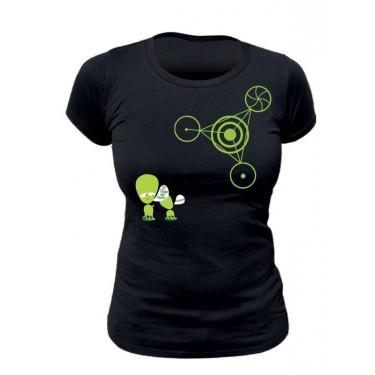Tee-shirt bio Femme Crop circle